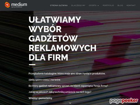 Agencja reklamowa MEDIUM, upominki, projekty reklamowe, strony www, Gliwice, Zabrze, Katowice